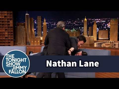 Nathan Lane and Jimmy Fallon Get in a Brawl