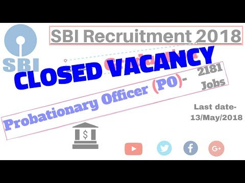 SBI Recruitment 2018 | 2181 PO Govt Jobs in Bank : Graduation Apply Online