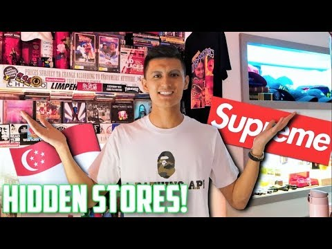 FIRST TIME HYPEBEAST SHOPPING! Hidden HYPE Shops Found In SINGAPORE! Part 2