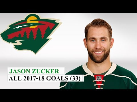 Jason Zucker (#16) All 33 Goals of the 2017-18 NHL Season