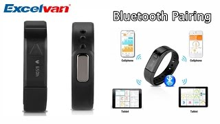 how to bluetooth pairing excelvan oled wearable smart bracelet wristband
