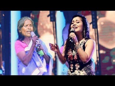 Neha Kakkar Surprised To Ranu Mondal Live Singing Of Her Song   Performance Reality Show