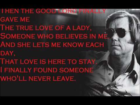 George Jones The Right Left Hand Song w/ lyrics