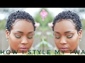 How I style my TWA| Current styling routine and products 2017 | Queenteshna
