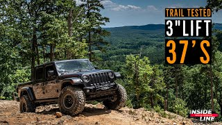 Jeep Gladiator Rubicon 3-inch JKS Suspension Lift Install & Review | Inside Line