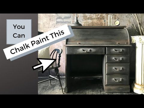 Roll Top Desk Old world vintage makeover using Annie Sloan's chalk paint