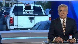 'F*** TRUMP' truck sticker photo goes viral
