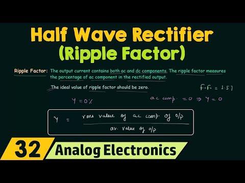 Half Wave Rectifier (Ripple Factor)