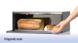 Хлебница Brabantia с поднимающейся крышкой видеообзор
