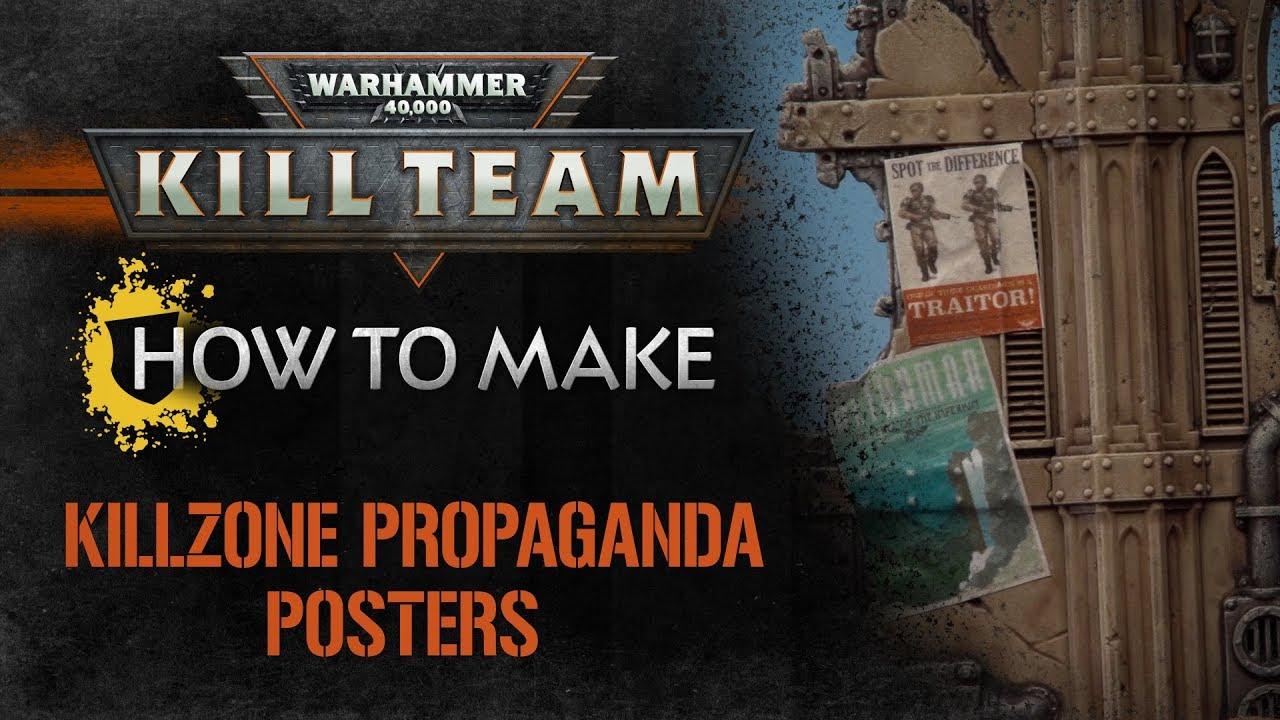 9018b7d86d How to Make  Kill Team – Killzone Propaganda Posters - YouTube