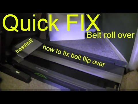how to fix treadmill belt fold over