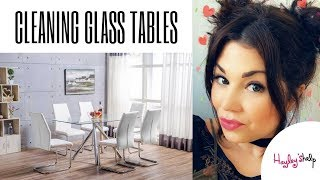 Cleaning Glass Dining Tables, No Streaks!  CLEAN WITH ME
