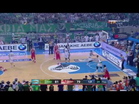 Panathinaikos-Olympiakos 81-82 Spanoulis Buzzer beater !!!!