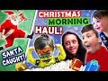 Santa Caught On Christmas W  Elf!  Funnel Family X Mas Haul 2016 Presents + Nor