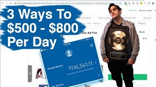 3 Fastest Ways To Make Money Online (BRAND NEW! 500-800 PER DAY)