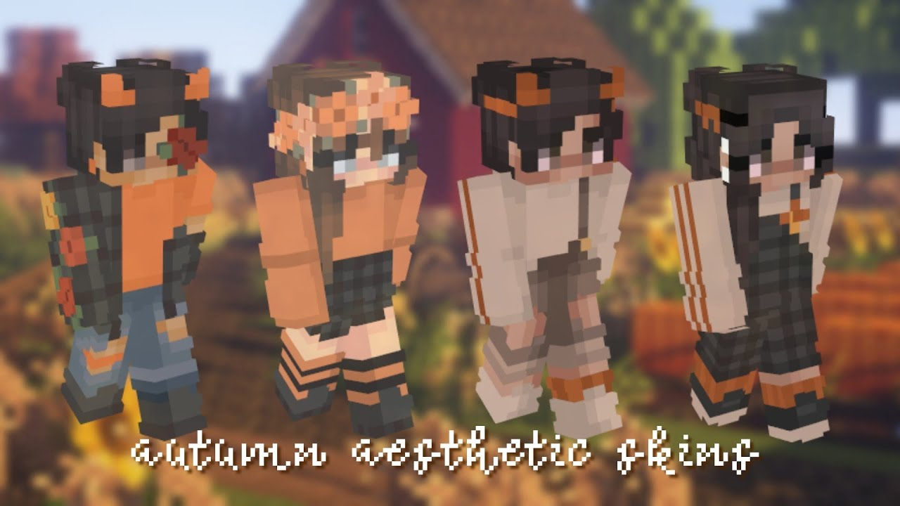 Aesthetic Minecraft Autumn Skins For Girls Boys With Download Links Youtube
