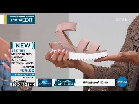 23c9d919fae Steven Natural Comfort Kelly Fabric Platform Sandal - YouTube