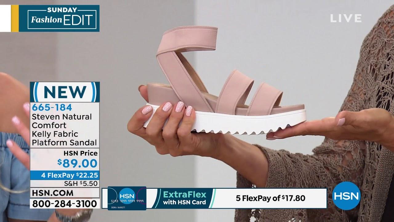 8911e134a31 Steven Natural Comfort Kelly Fabric Platform Sandal