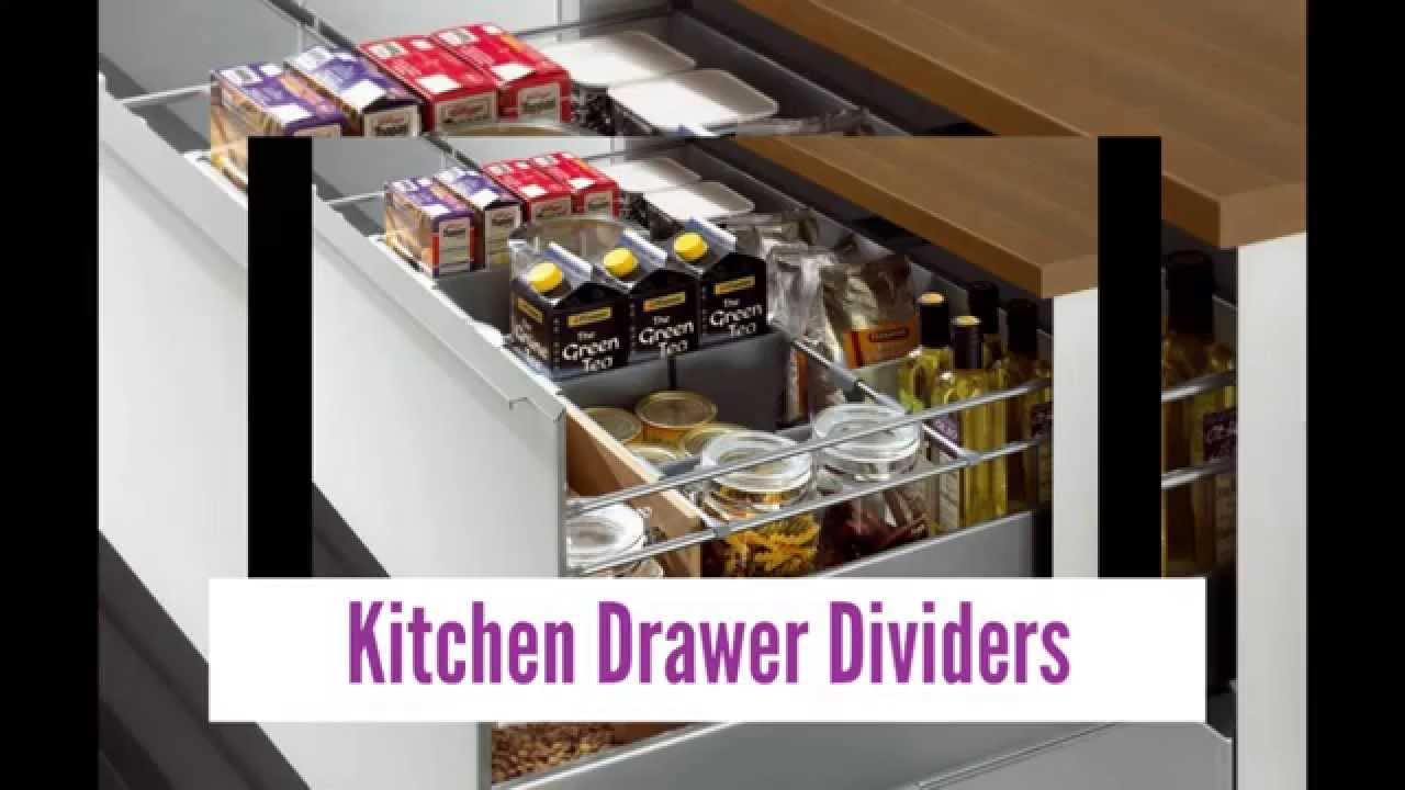 Kitchen Drawers Organizers excellent kitchen drawer dividers - youtube