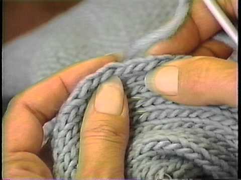 Knitting Pick Up Stitches V Neck : Sweater Finishing: Pick up and knit along armhole edge - YouTube