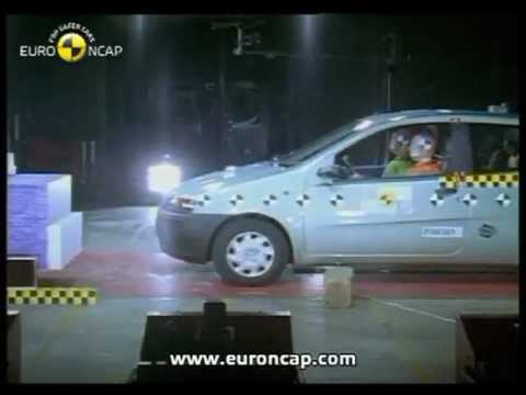 euro ncap fiat punto 2000 crash test youtube. Black Bedroom Furniture Sets. Home Design Ideas