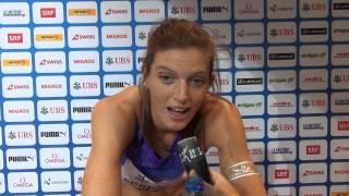 Interview Lea Sprunger - Weltklasse Zürich 2015