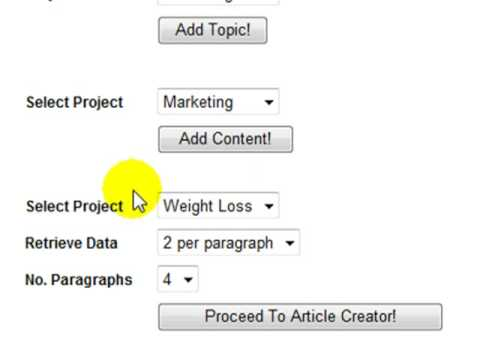 How To Create An Article Using Article Writer Pro
