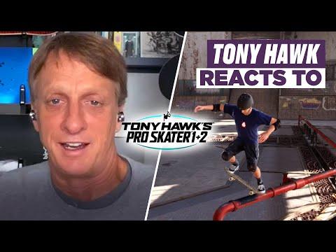 Tony Hawk Reacts to Tricks in Tony Hawk's Pro Skater 1 + 2 Remastered