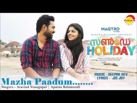 Mazha Paadum Audio Song | Film Sunday Holiday | Aravind Venugopal | Aparna Balamurali