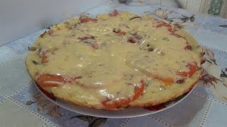 тесто для пиццы яйцо мука сметана