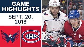 NHL Pre-season Highlights   Capitals vs. Canadiens - Sept. 20, 2018