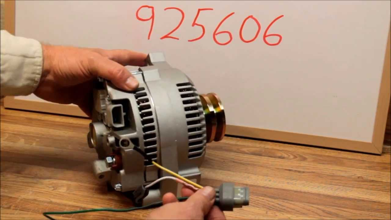 maxresdefault 3g large case high output alternator with wiring harness youtube ford 6g alternator wiring diagram at gsmx.co