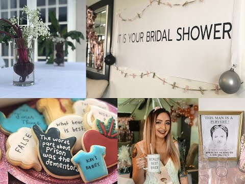 Josh - She loves The Office so much, her friends threw her a themed bridal shower!