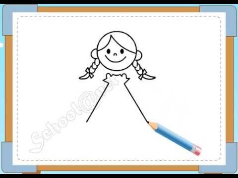 BÉ HỌA SĨ - Thực hành tập vẽ 95: Vẽ bé gái
