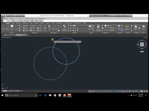 trimming objects in autocad 2016 - trim command shortcut autocad