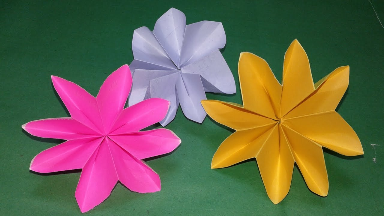 Construction Paper Flowers Step By Step Gardening Flower And