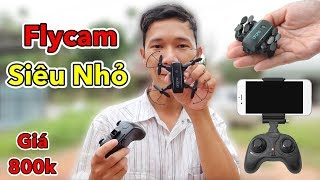 Lâm Vlog - Máy Bay Flycam Siêu Nhỏ Có Camera giá 800k | Flycam Mini $40