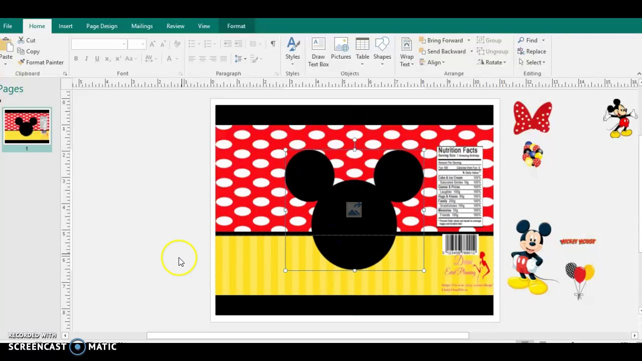 mickey mouse chip bag request  tutorial  diy