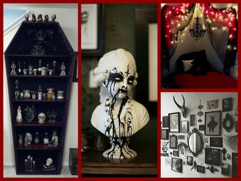 Gothic halloween decor ideas goth room decor inspiration for Room decor reddit