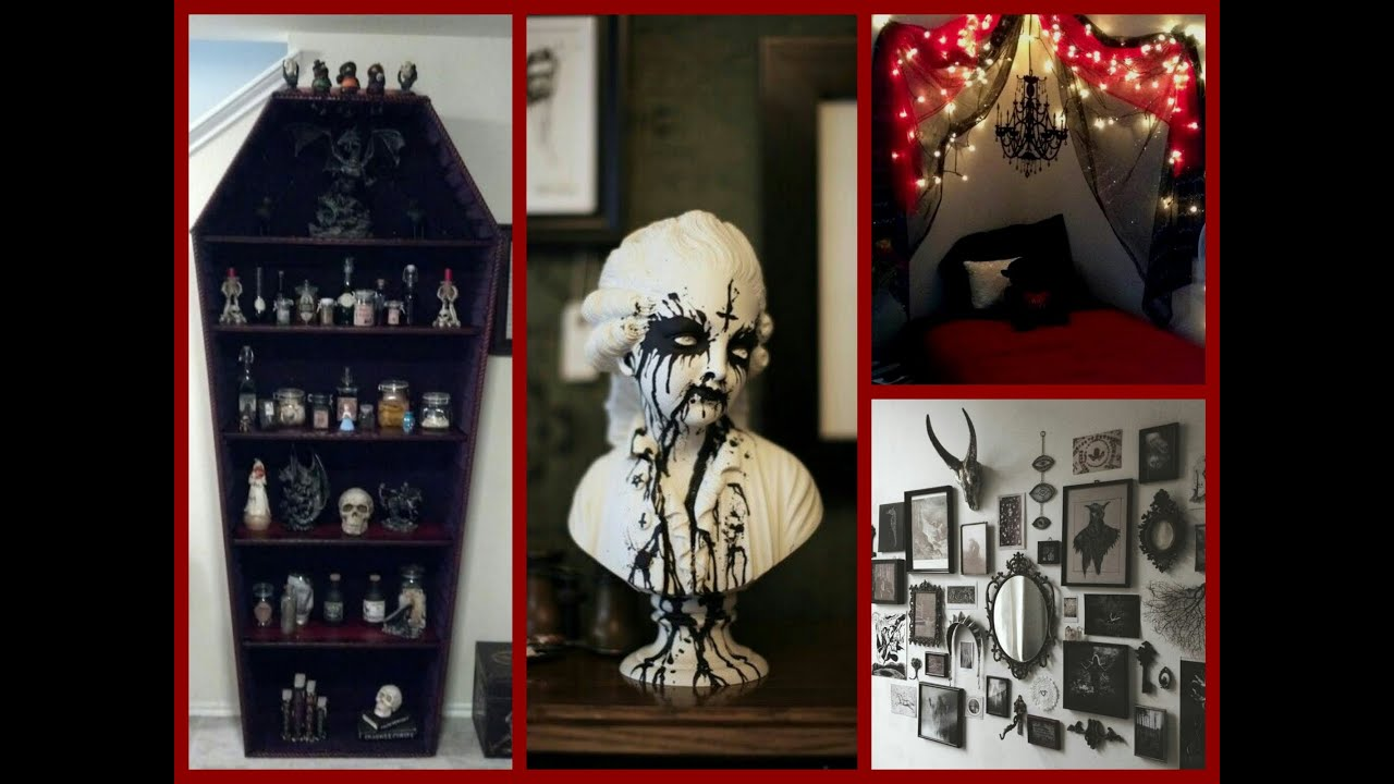 Goth Rooms gothic halloween decor ideas - goth room decor inspiration - youtube