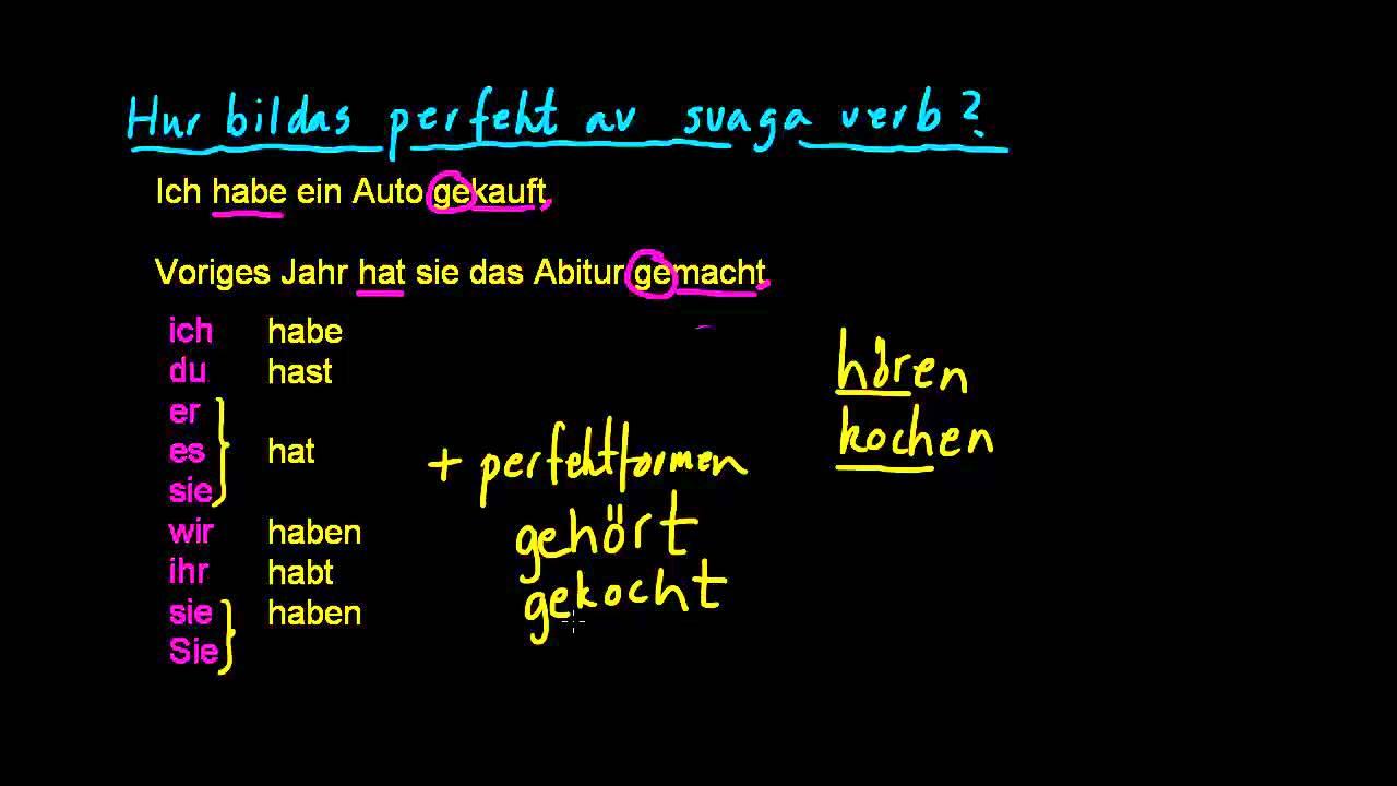 Ty 3: Perfekt av svaga verb
