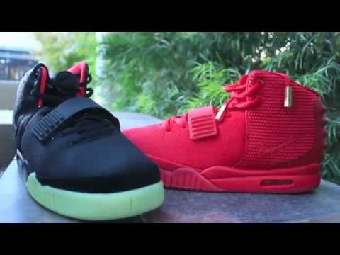 Nike Air Yeezy 2 Solar Red vs Red October!