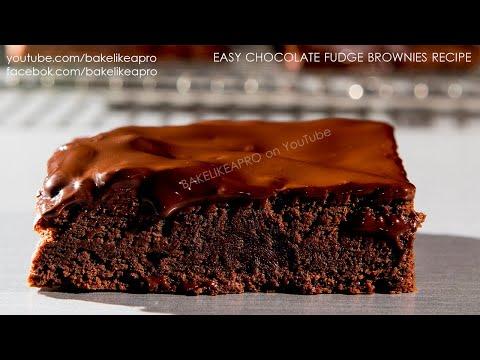 Easy Chocolate Fudge Brownies Recipe