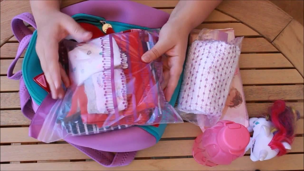099f7aa5d86 τι έχει μέσα η τσάντα του παιδικού σταθμού - YouTube