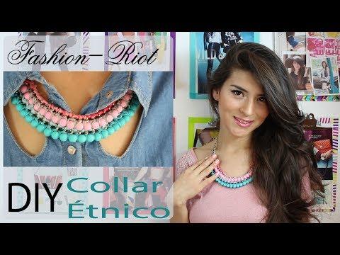 DIY Collar étnico| Fashion Riot