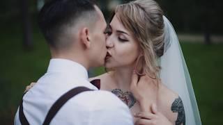 Самая крутая и стильная свадьба. Прикольное видео , татуированая невеста и жених