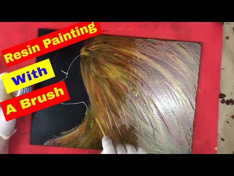 Epoxy Resin Painting with a Brush