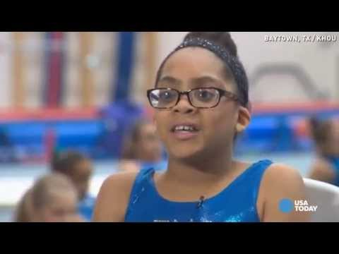11-year-old blind gymnast aims for Olympics