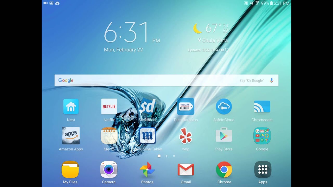 how to remove empty pages on samsung tablet