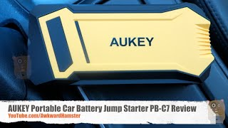 AUKEY Portable Car Battery Jump Starter PB-C7 Review, How to Jump Start A Car